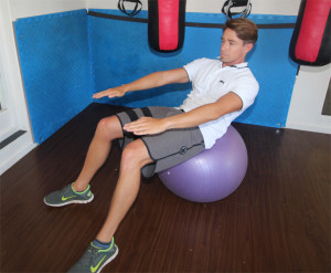 Sit-up over Swiss Ball