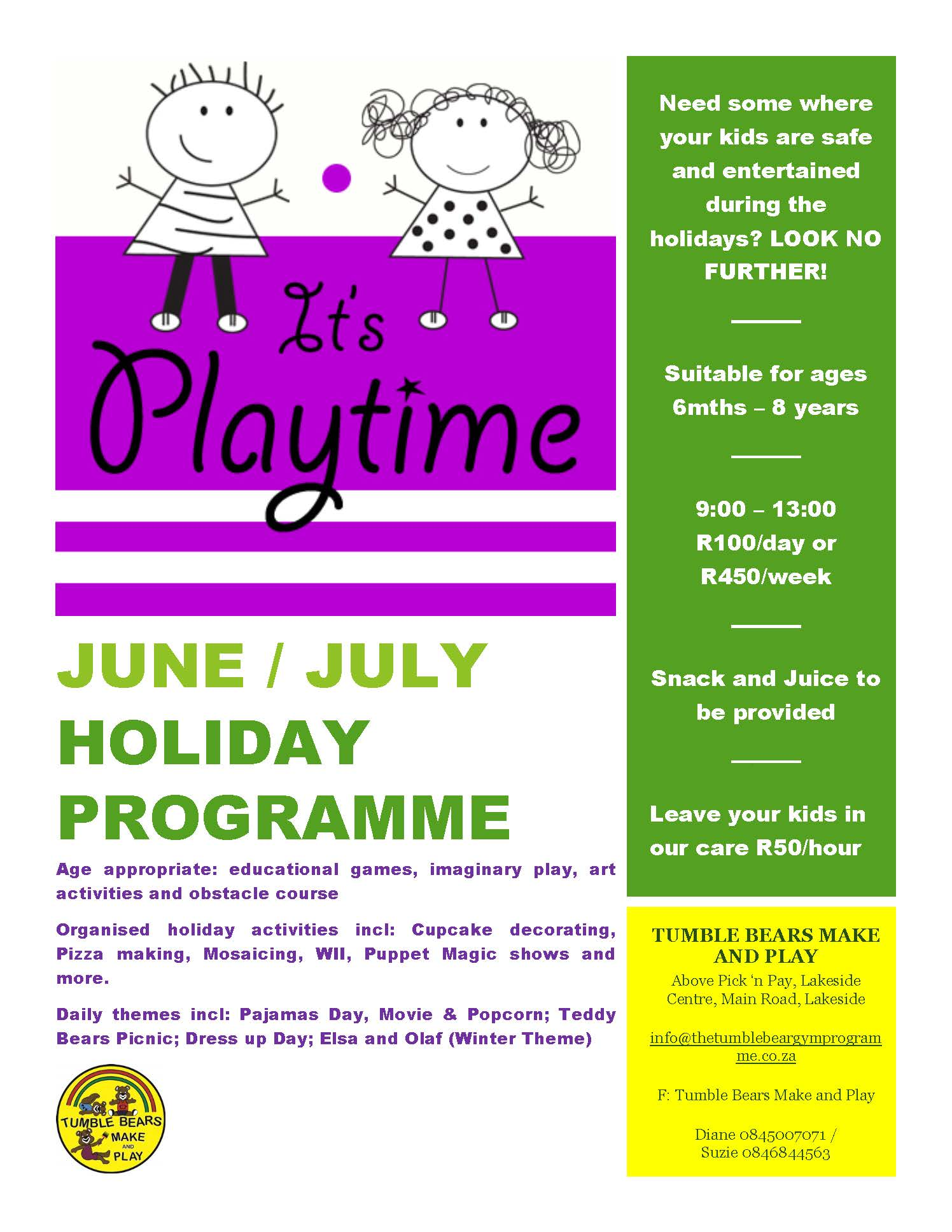 Holiday Programme Flyer