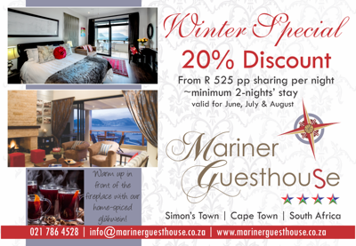 Mariner Guest House Winter Special 2015