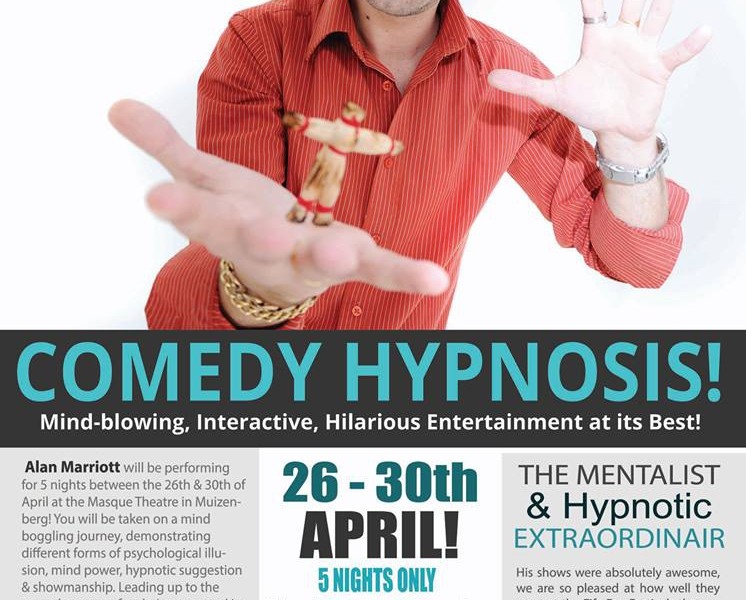 Win two tickets to Alan Marriot's Comedy Hypnosis