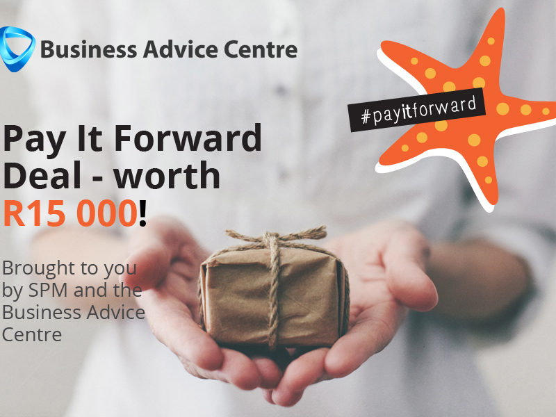 Pay it forward deal – worth R15000!