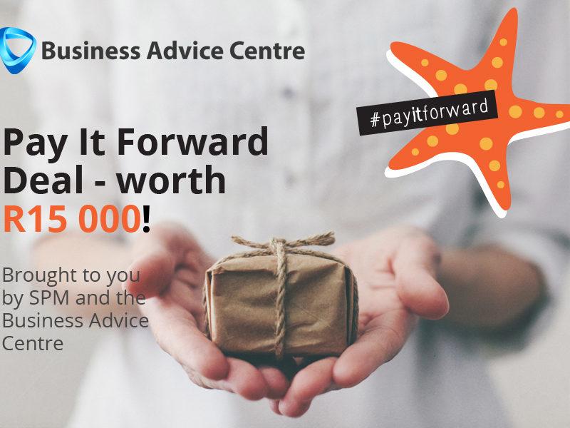 Pay it forward deal – worth R15000!