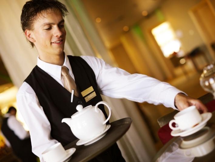 Bragas de trabajo getting coffee