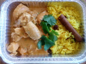 Cape Malay butter chicken with yellow rice
