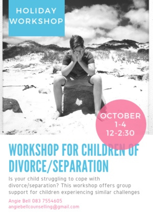 Is your child struggling to cope with divorce/separation? This workshop offers group support for children experiencing similar challenges. Please contact: Angie 0837554605