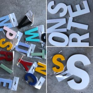 Wooden letters, small and large